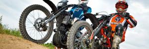 Катание на мотоцикле эндуро