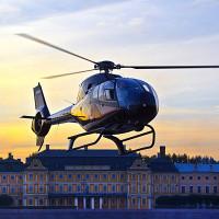 Полёт на вертолёте  в Петергоф