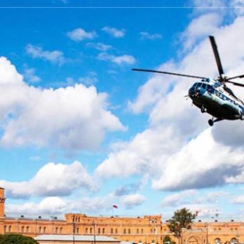 Полёт на вертолете над Санкт-Петербургом