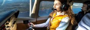 Полет на самолете вдоль береговой линии Санкт-Петербурга